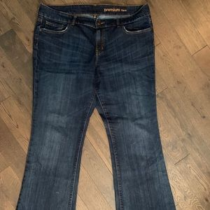 GAP Jeans, Premium Flare. Medium-Dark Wash.